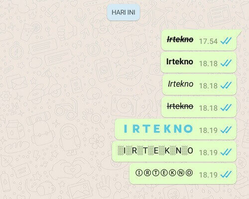 cara membuat huruf tebal di whatsapp
