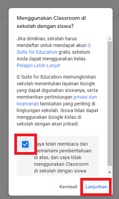 cara buat google classroom