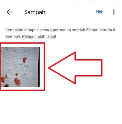 cara mengembalikan foto yang hilang