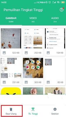 cara mengembalikan foto yang terhapus di memory internal android