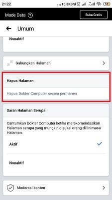 Cara Menghapus Facebook Fanpage