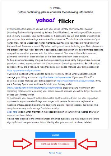 Cara Menghapus Akun Email Yahoo