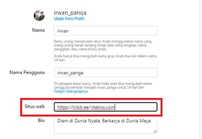 cara membuat link wa di bio instagram