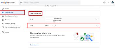 cara mengganti nomor hp di gmail dengan pc