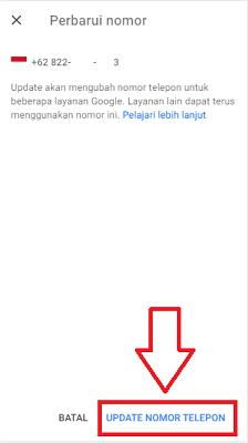 cara mengganti nomor hp di gmail yang hilang