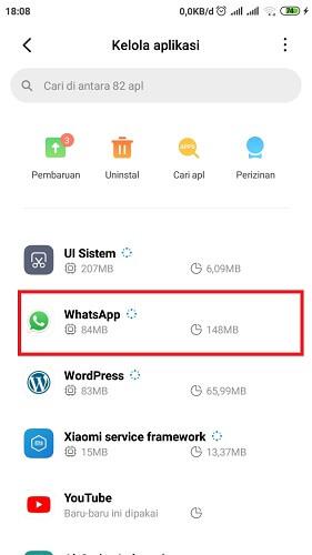 Cara menonaktifkan chat Whatsapp
