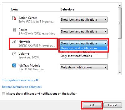 Icon Wifi Tidak Muncul di Laptop