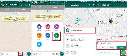 cara membuat lokasi di whatsapp