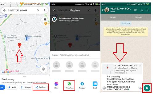 cara share lokasi lewat whatsapp