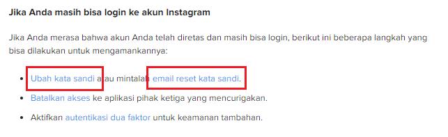 Cara kembalikan akun instagram yang di ambil orang lain