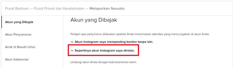 Kembalikan Akun Instagram saya