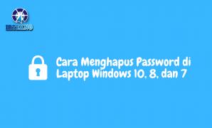 cara menghapus password di laptop