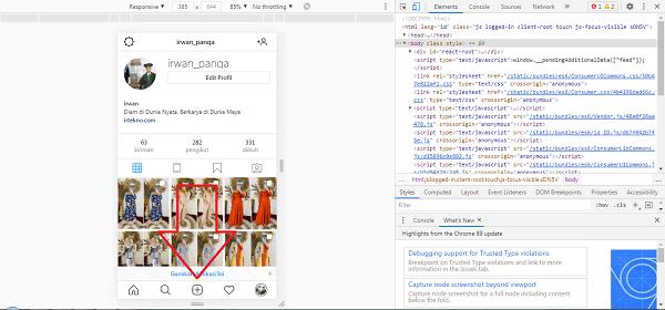 cara posting foto di ig lewat laptop