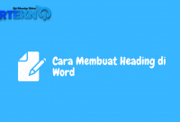 cara membuat heading di word