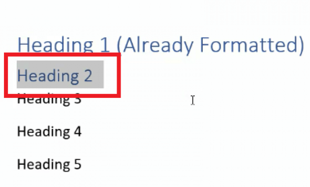 cara membuat heading di word 2010