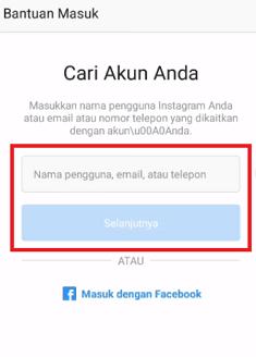 cara membuka instagram yang lupa password dan email dan nomor hp