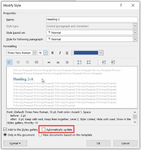 cara menampilkan heading di word 2010