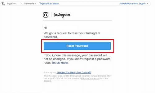 cara mengembalikan akun ig lupa password