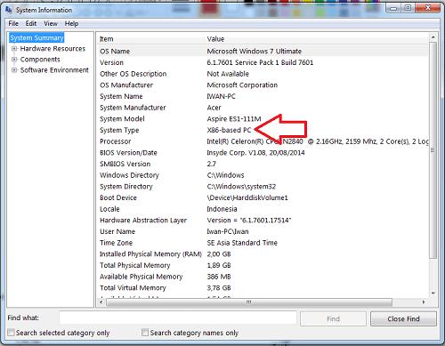 cara mengetahui processor 32-bit atau 64-bit