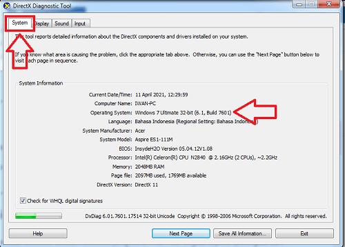 cara mengetahui processor 32 bit atau 64 bit