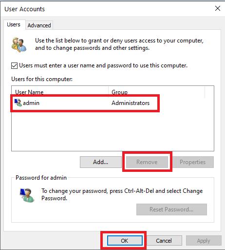 cara hapus akun di windows 10