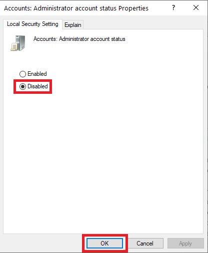Hapus akun administrator windows 10