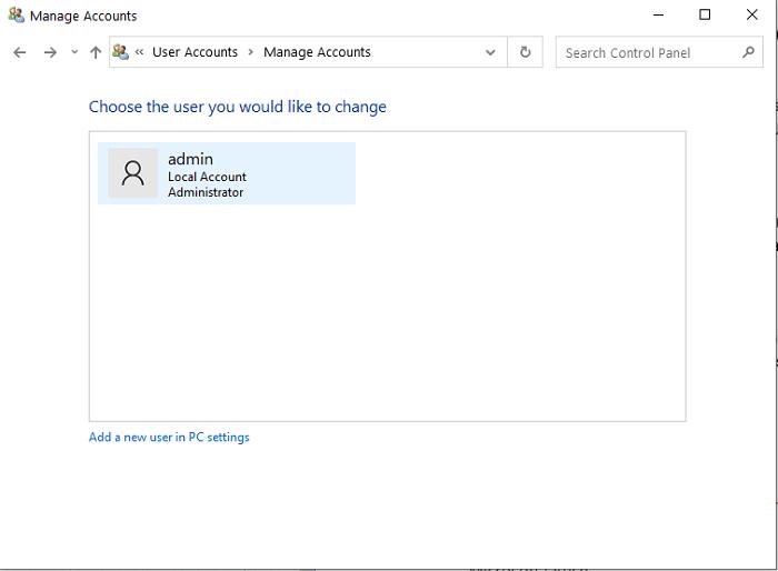 cara menghapus akun di laptop windows 10